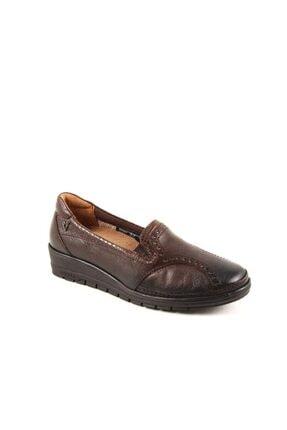 Forelli 25109-h Kadın Kahve Deri Halluks Comfort Ayakkabı