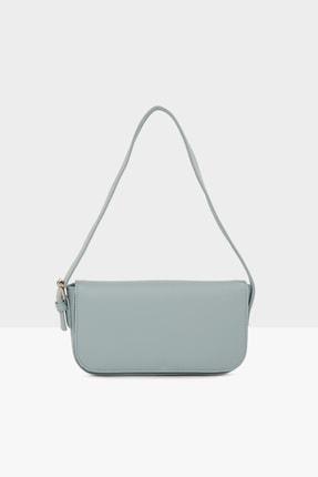 Bagmori Mavi Kadın Kapaklı Kalıp Baget Çanta M000004657