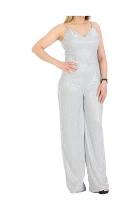 Günay Giyim Kadın Gümüş Tulum Abiye 11273200004001