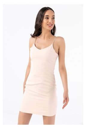 Tiffany A0269 Saten Askılı Atlas Elbise