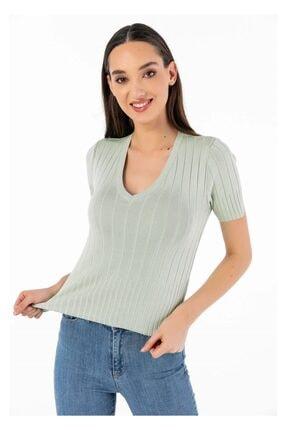 Tiffany A0253 Kısa Kol Fitilli Bluz