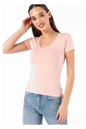 Tiffany Y14998 V Yaka Basic T-shirt