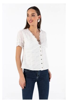 Tiffany Y14899 Robalı Vual Bluz