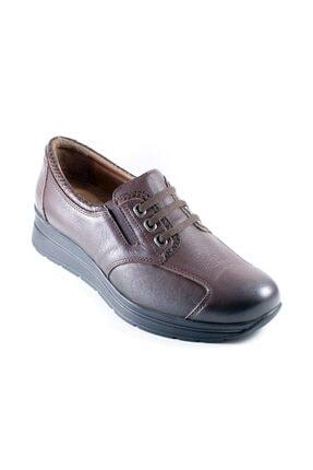 Forelli Kadın Kahverengi Deri Ortopedi  Ayakkabı 23802