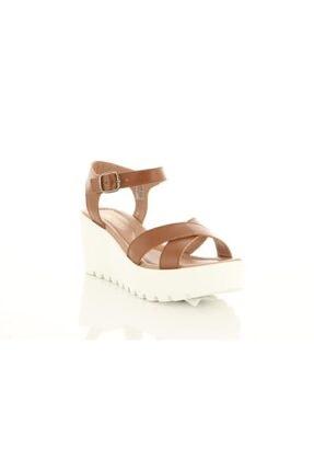 Greyder 50151 G Kadın Taba Deri Sandalet