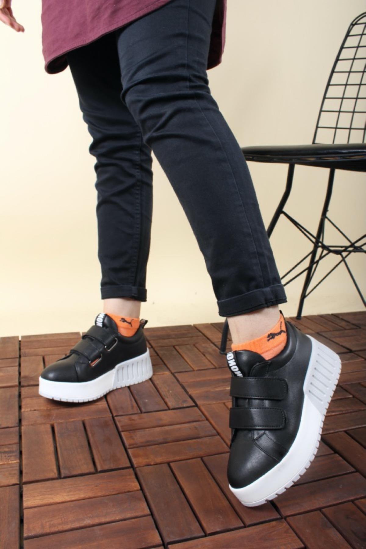 Oksit Giyim Florin Vera Yüksek Taban Cırtlı Kadın Sneaker