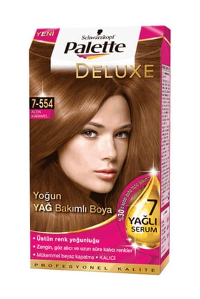 Palette Deluxe 7 554 Altın Karamel Krem Saç Boyası