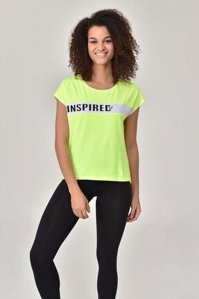 Bilcee Kadın Yeşil T-shirt Gs-8603