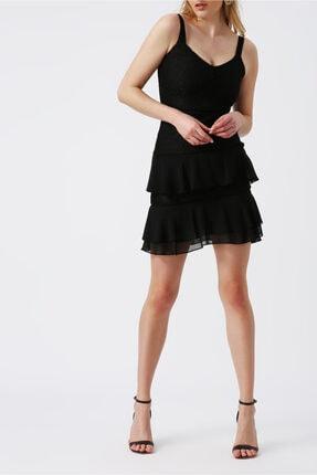 Random Kadın Dantel Detaylı Mini Elbise