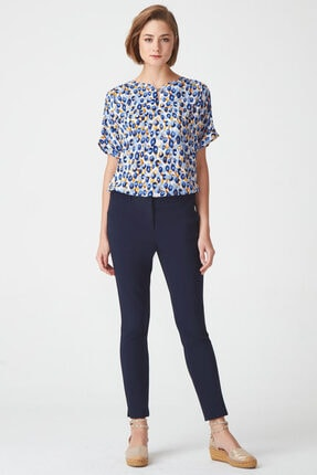 Naramaxx Kadın Lacivert Dar Paça Pantolon