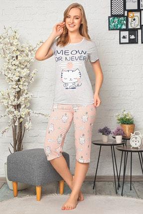 D-Paris Baskılı Kapri Pijama Takımı