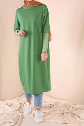 ALLDAY Kolları Gömlek Detaylı Garnili Tunik - Kubraboutique