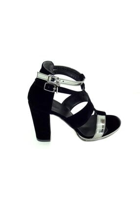 Punto Kadın Kalın Topuk Suet Ayakkabı