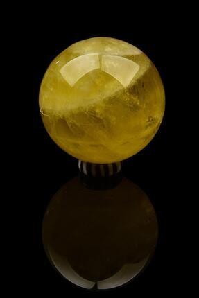 Saff Doğal Taş Limon Kuvars Küre Ham Taş 209120