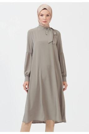 Setrms Kadın Pile Kol Detaylı Haki Tunik