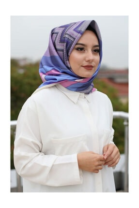 Afvente Kadın Mor Eşarp