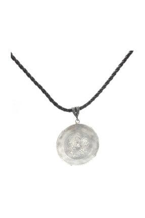 Nusret Takı 925 Ayar Gümüş Çiçekler Motifli Madalyon Kolye