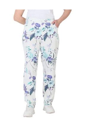 Günay Giyim Kadın Desenli Keten Pantolon 44203200004430