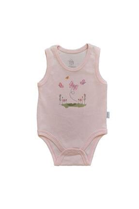 Bebengo Kalın Askılı Kelebek Ve Çiçek Baskılı Renkli Pamuklu Çıtçıtlı Kız Ve Erkek Bebek Body Zıbın
