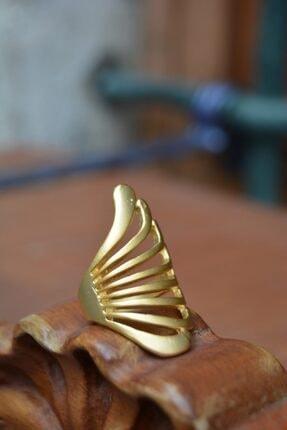 Stoneage Altın Kaplama Yüzük