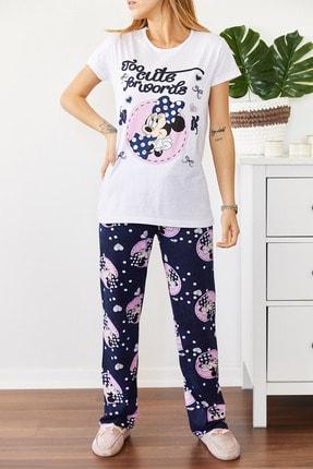 Xhan Kadın Beyaz Baskılı Pijama Takımı 0YXK8-43666-01