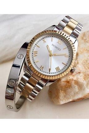 Homies Kadın Sarı ve Gümüş Kol Saati Hmse-202062160