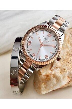Homies Kadın Bakır-Gümüş Kol Saati Hmse-202062161