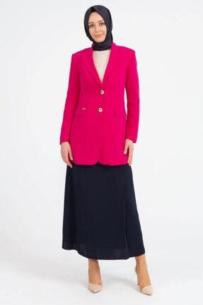 Setrms Kadın Fuşya Kelebek Yaka Blazer Ceket