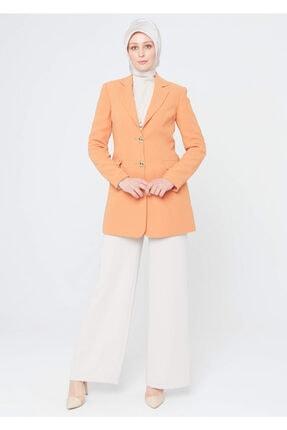 Setrms Kadın Oranj Kelebek Yaka Blazer Ceket