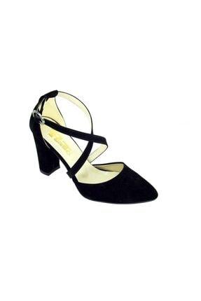 Punto Kadın Siyah  Kalın Topuk Ayakkabı 462028