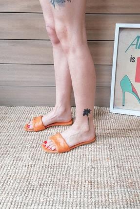 Ayakkabı Modası Kadın Turuncu Terlik