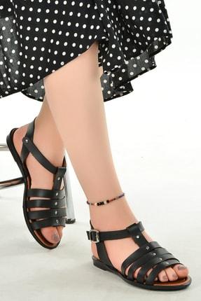 Ayakland Kadın Sandalet Terlik 3250 Günlük Kemerli