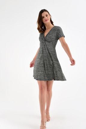 Laranor Kadın Desen-3 Yaka Detay Desenli  Elbise 18L6315