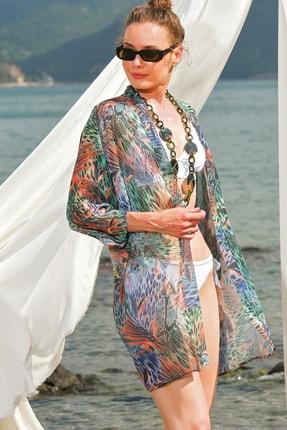 Kadın Multi Desenli Kimono Alc-020-064-Ns ALC-020-064-NS