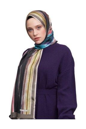 Mizalle Kadın Yeşil Pastel Renkli İpek Şal  19SBMZL1010003