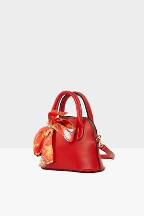Bagmori Kırmızı Kadın Şallı Oval Çanta M000004759