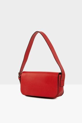 Bagmori Kırmızı Kadın Kapaklı Baget Çanta M000004755