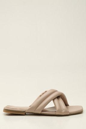 Ayakkabı Modası Bej Kadın Terlik 1005-20-122010