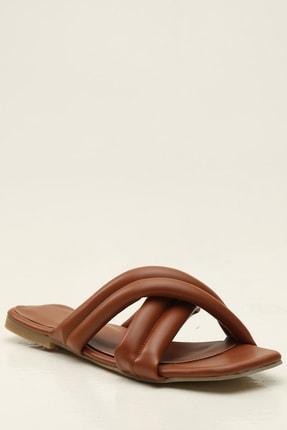 Ayakkabı Modası Taba Kadın Terlik 1005-20-122010