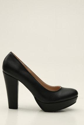 Ayakkabı Modası Siyah Kadın Klasik Topuklu Ayakkabı 5012-20-119025