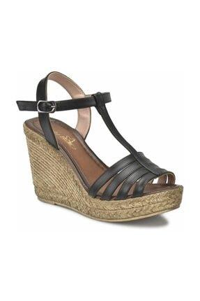 Missf U1726-18S Siyah Kadın Sandalet