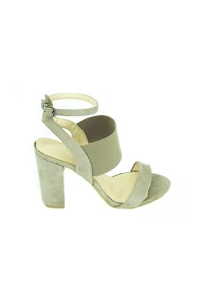Punto Kadın Bej Kalın Topuk Ayakkabı