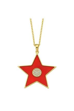 LUZDEMIA Kadın Kırmızı Gümüş Kolye Amz. Kolye 925 - 3