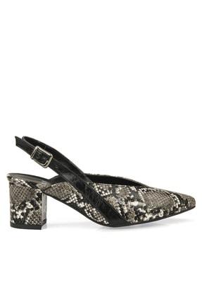 Ziya Punto by Ziya Kadın Sandalet 101415 667909 2 Siyah-Yılan