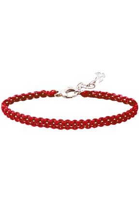 Valael Kadın Kırmızı Kök Çakra Gümüş Bilekliği