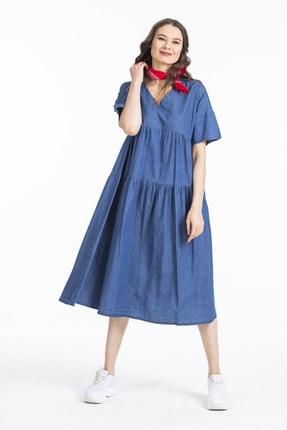 Pitti Kadın Lacivert Elbise 51100