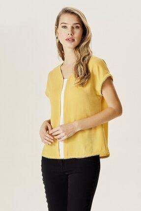 Naramaxx Kadın Sarı Düşük Kollu Bluz