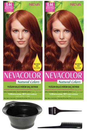 Neva Color 2'li Natural Colors 8.44 Tarçın Bakır - Kalıcı Krem Saç Boyası Ve Saç Boyama Seti 7681655541449