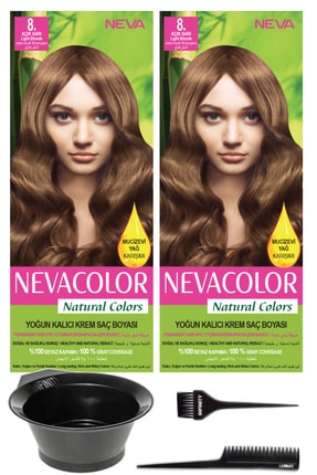 Neva Color Kalıcı Krem Saç Boyası Ve Saç Boyama Seti