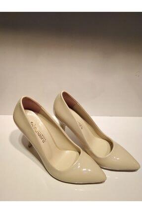 Pandora Kadın Ten Stiletto Rugan Ayakkabı Y20 1770